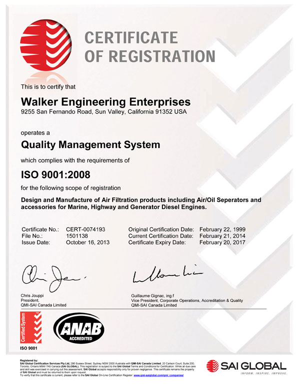 ISO9001:2008 Certificate